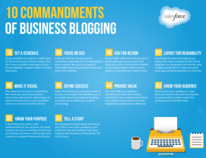 10 Commandments Biz Blogging_Salesforce